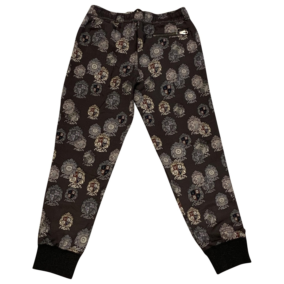 Dolce & Gabbana \N Multicolour Silk Trousers for Women 46 IT