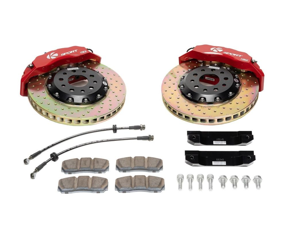 Ksport BKTY053-447CO Supercomp 4 Piston 356mm Rear Big Brake Kit - Drilled Toyota Celica 1994-1999