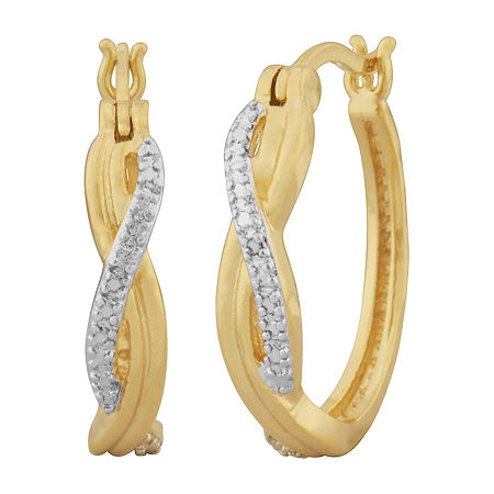 Sparkle Allure Diamond Accent 18K Gold Over Brass Infinity Hoop Earrings, One Size , No Color Family