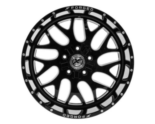 XF Off-Road XFX-301 Wheel 20x10 6x135|6x139.7 -24mm Black Milled Window