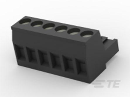 TE Connectivity , TB 5mm Pitch, 6 Way PCB Terminal Block, Black (100)