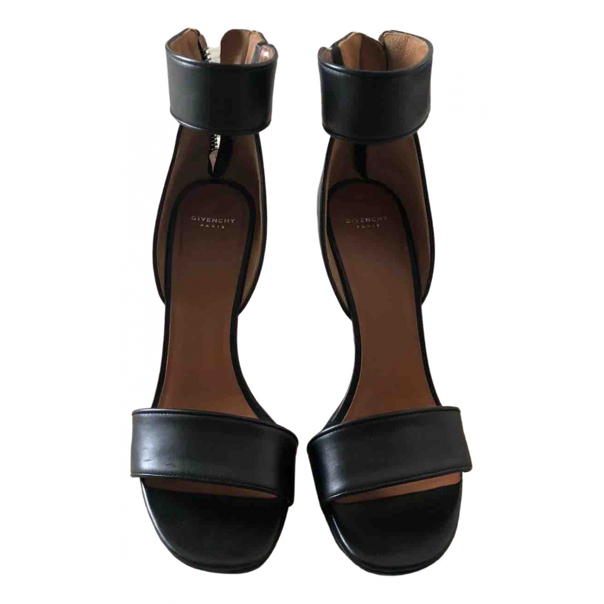 Givenchy \N Black Leather Sandals for Women 39 EU