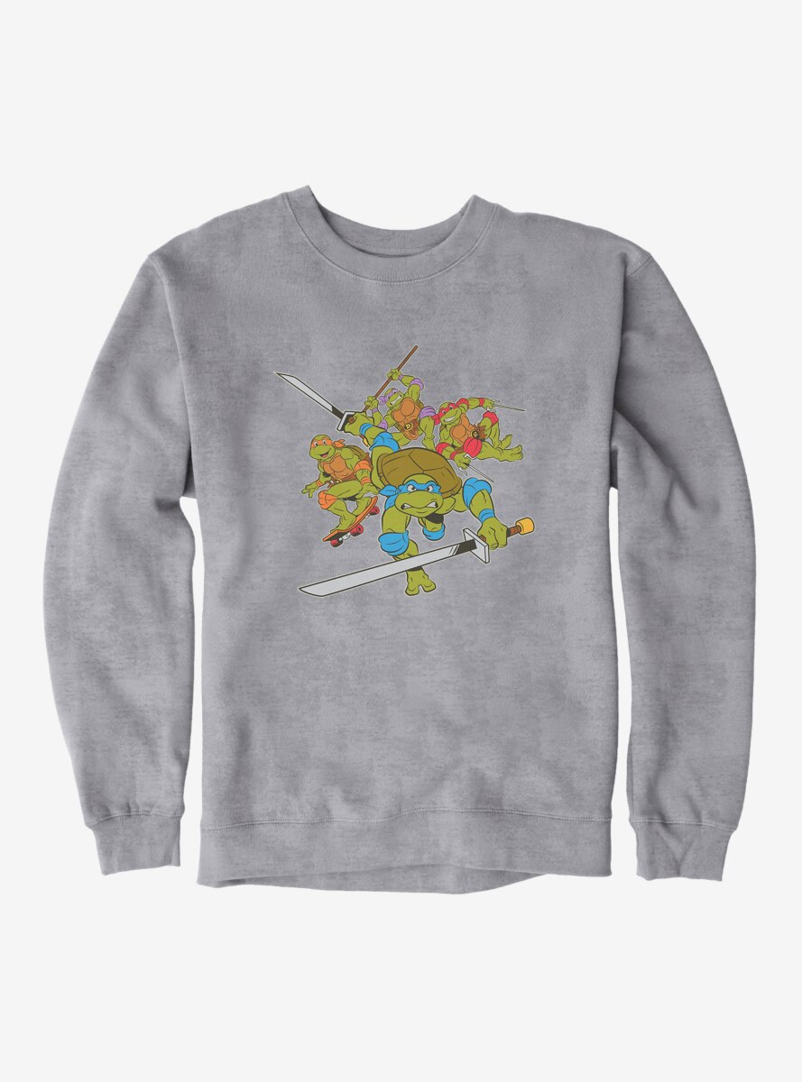Teenage Mutant Ninja Turtles Group Weapons Pose Sweatshirt