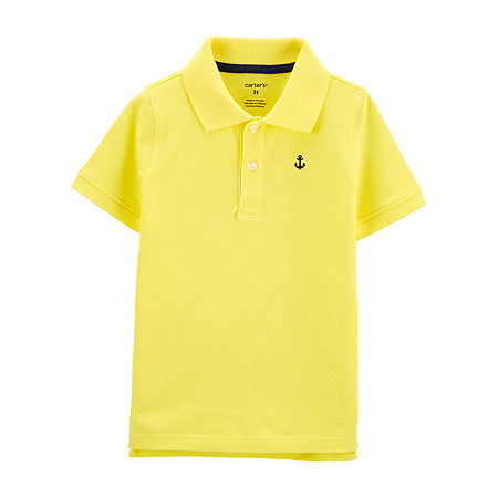 Carter's Toddler Boys Short Sleeve Polo Shirt, 5t , Yellow