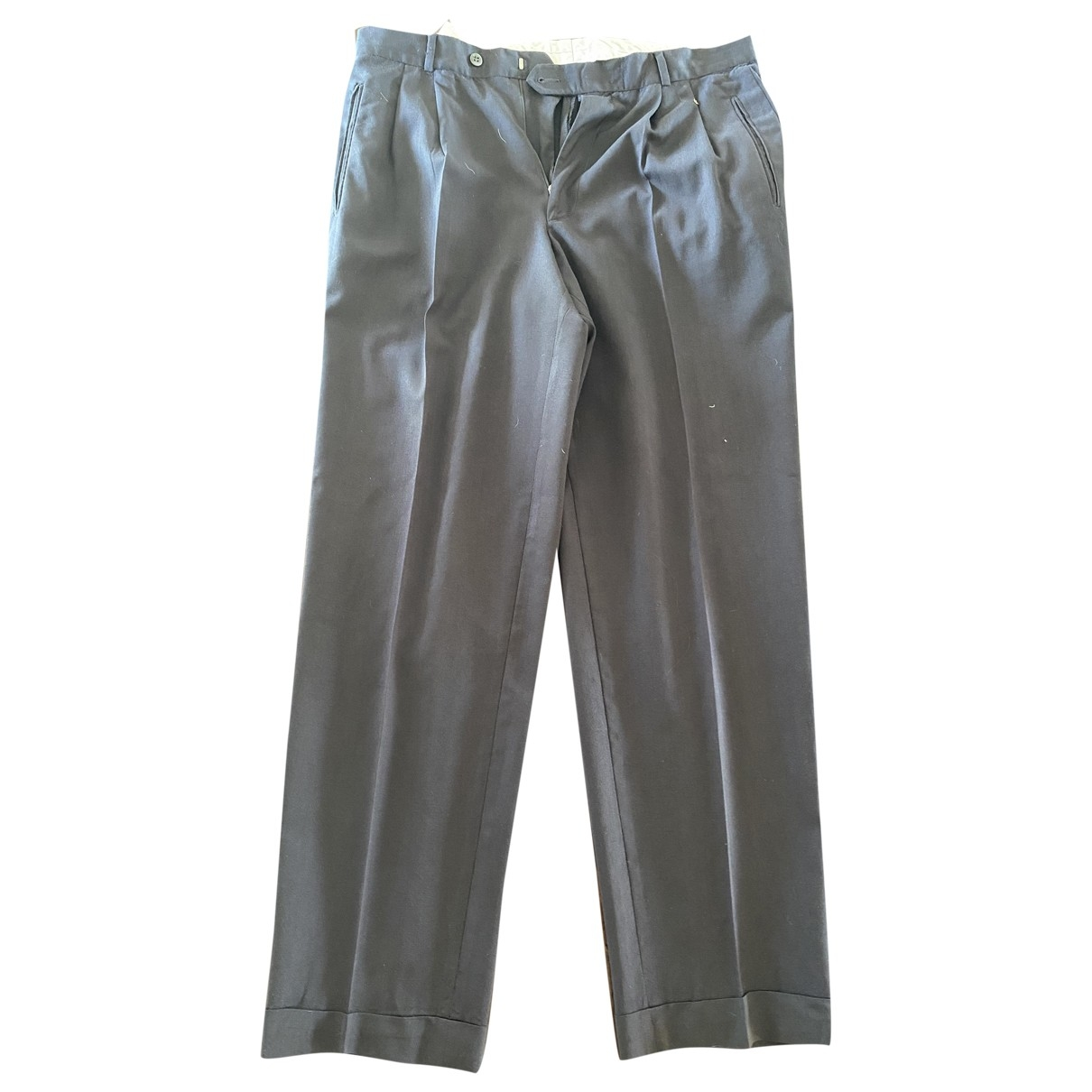Boss \N Anthracite Wool Trousers for Men 42 FR