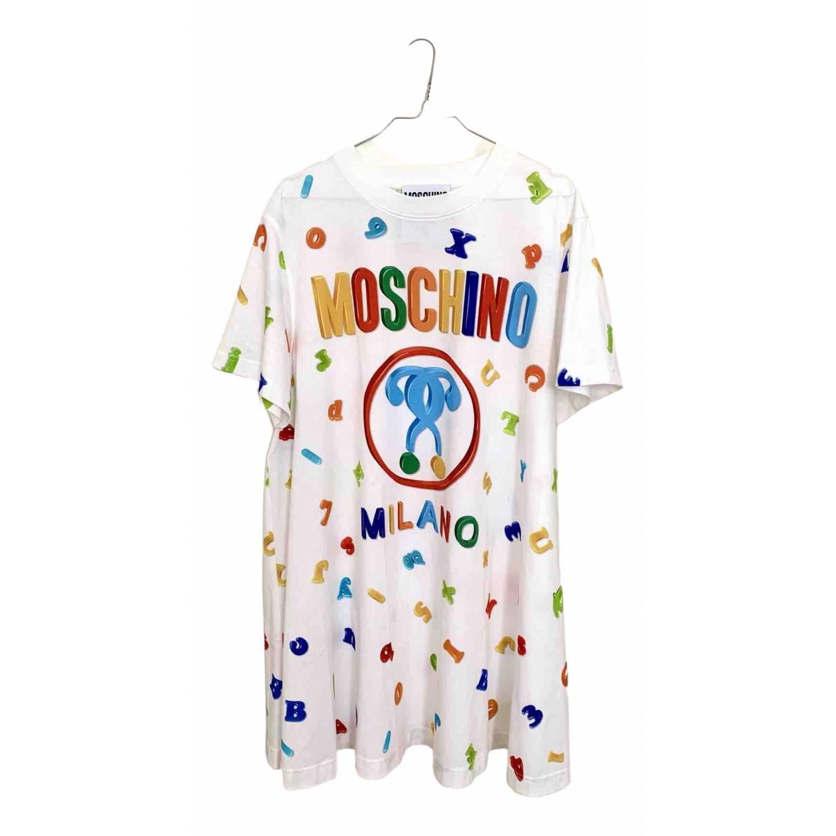 Moschino \N White Cotton dress for Women 42 IT