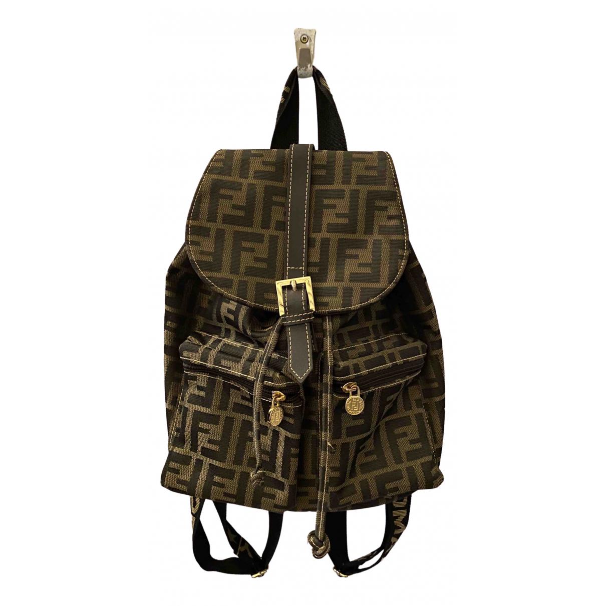 Fendi \N Brown Cloth backpack for Women \N