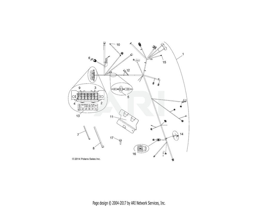 Polaris OEM 7180716 LABEL, FUSE BOX
