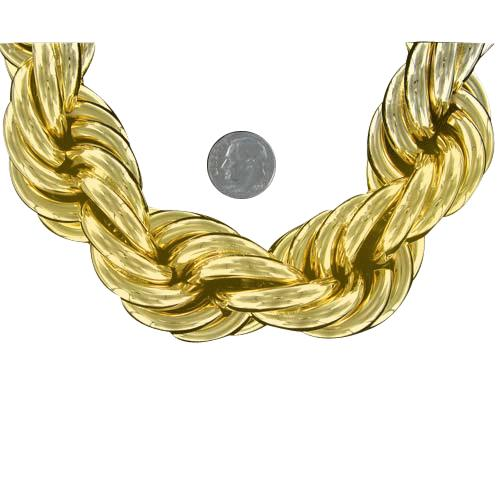 Gold Dookie Rope Chain 30MM