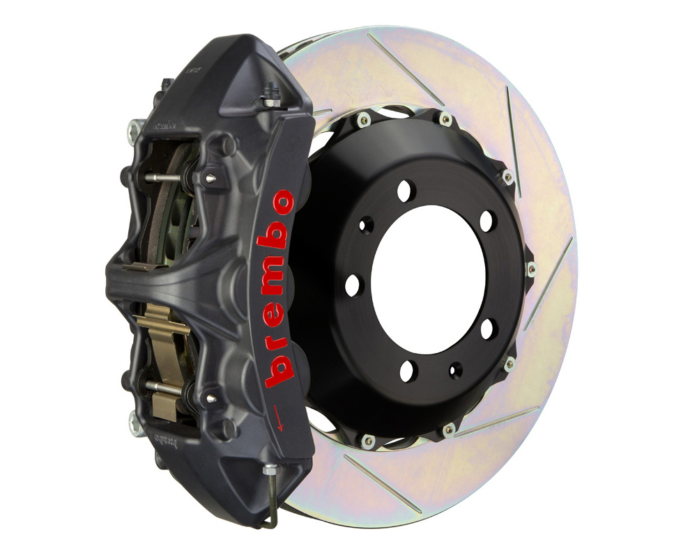 Brembo GT-S 380x32 2-Piece 6 Piston Hard Anodized Slotted Front Big Brake Kit