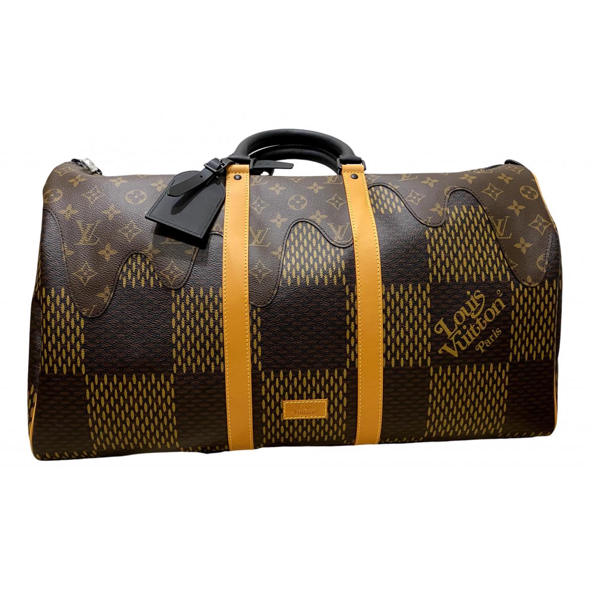 Louis Vuitton X Nigo \N Brown Cloth bag for Men \N