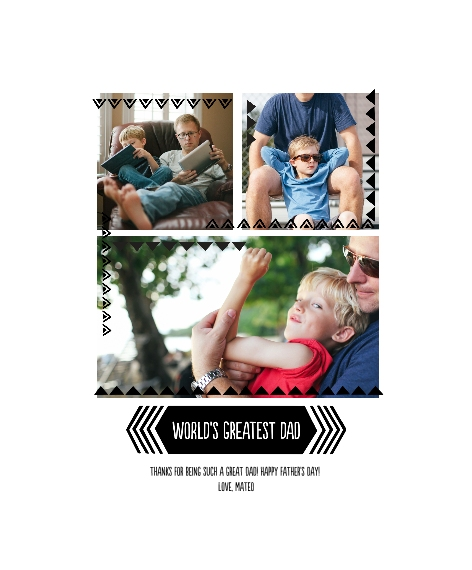 Family + Friends Framed Canvas Print, Chocolate, 11x14, Home Décor -Greatest Dad Triangle Border