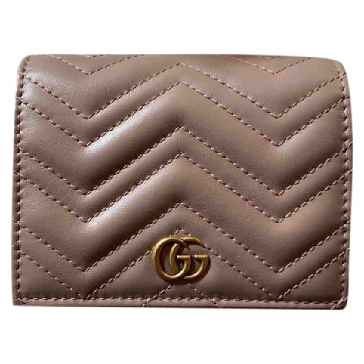 Gucci Marmont Beige Leather wallet for Women \N