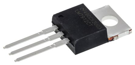 Texas Instruments , -12 V Linear Voltage Regulator, 1.5A, 1-Channel Negative, ±4% 3-Pin, TO-220 LM7912CT/NOPB