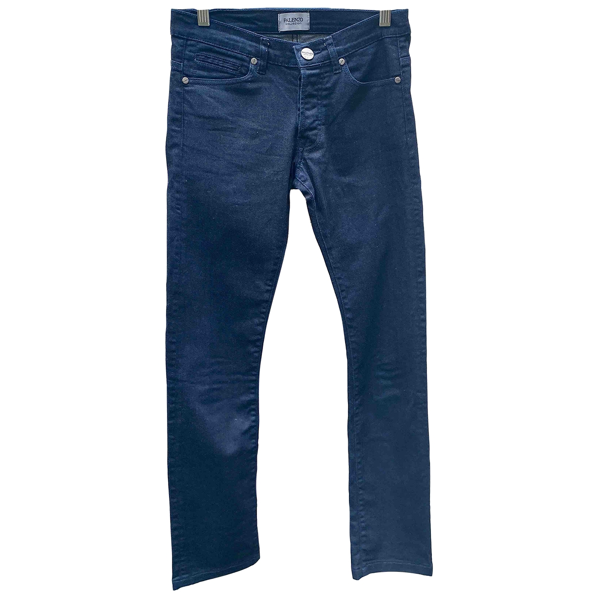 Non Signé / Unsigned \N Blue Denim - Jeans Trousers for Women 38 FR
