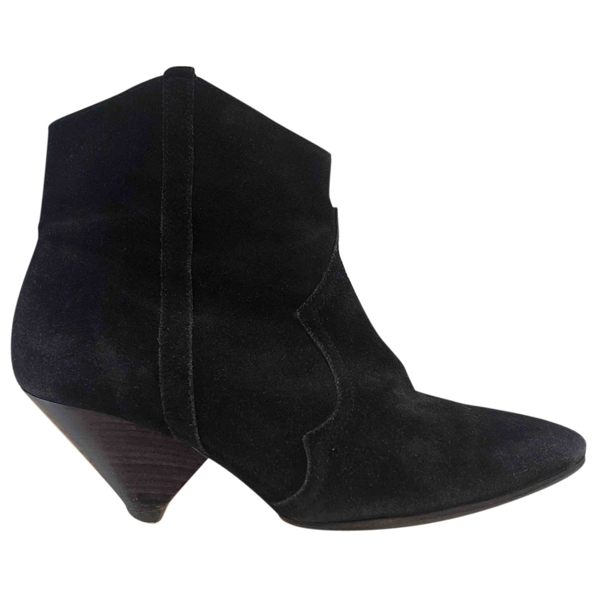 Isabel Marant \N Black Suede Ankle boots for Women 36 EU