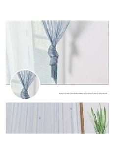 2*2M Multicolor Beaded Tassel String Sheer Curtain