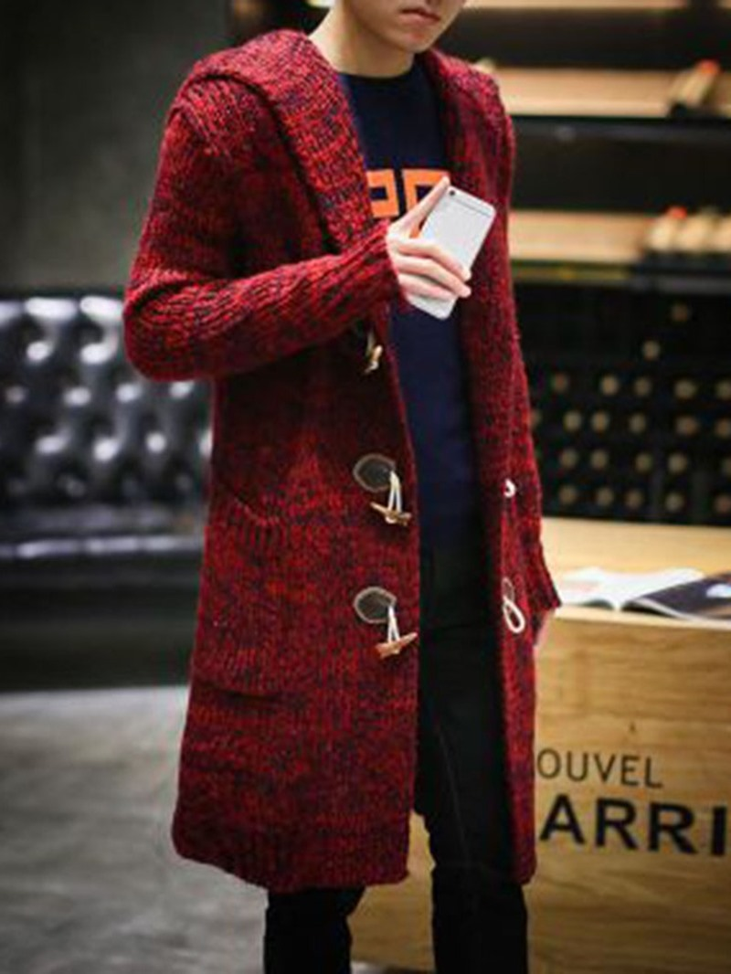 Ericdress Long Pocket Color Block Loose Korean Sweater