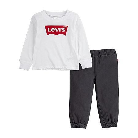Levi's Toddler Boys 2-pc. Pant Set, 4t , White