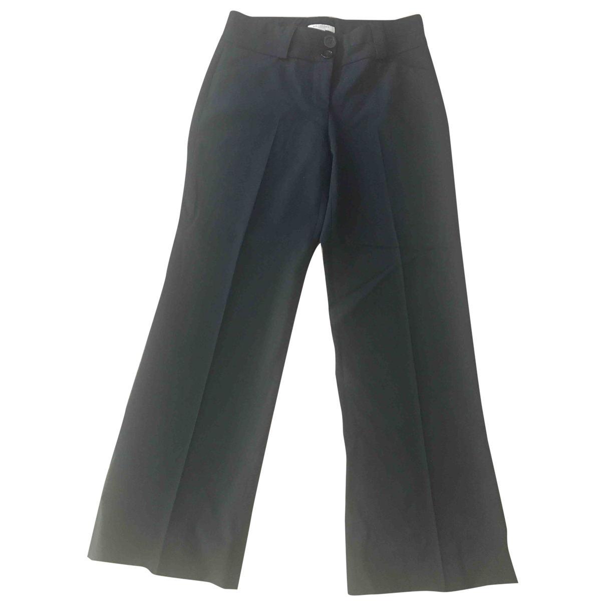 Burberry \N Black Wool Trousers for Women 36 FR