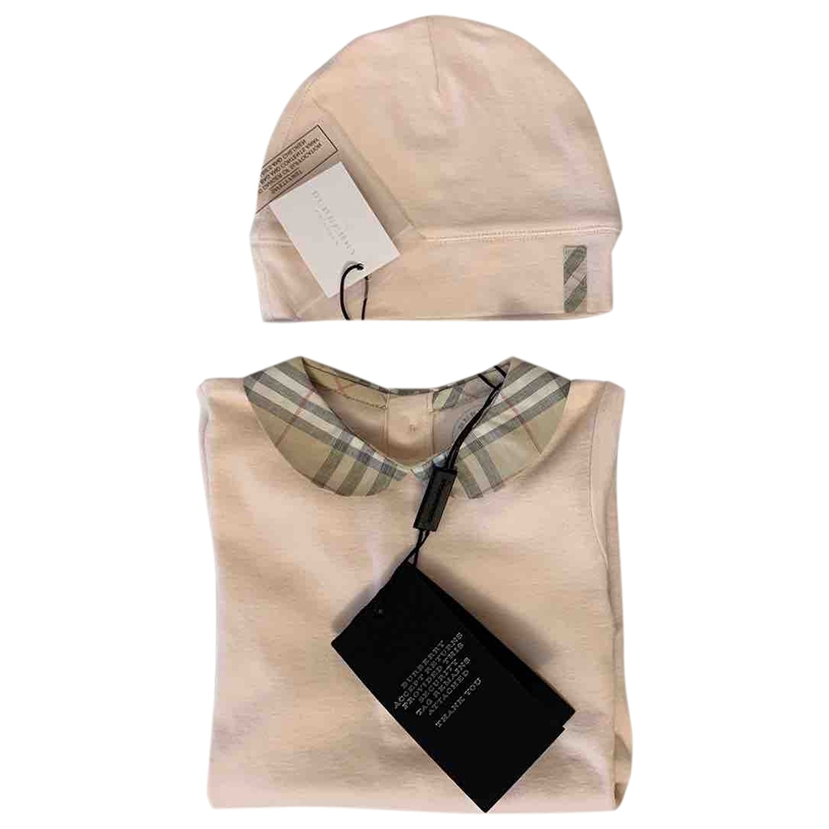 Burberry \N Pink Cotton Outfits for Kids 6 months - until 26.5 inches UK