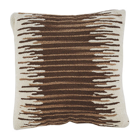 Signature Design by Ashley Wycombe Square Throw Pillow, One Size , Brown