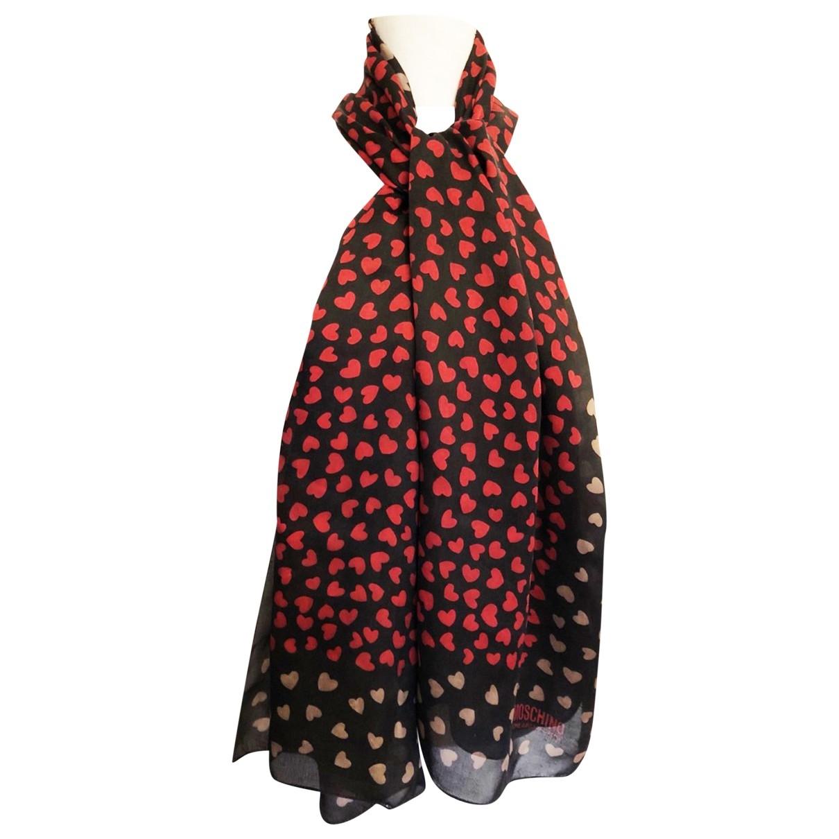 Moschino \N Black Silk scarf for Women \N
