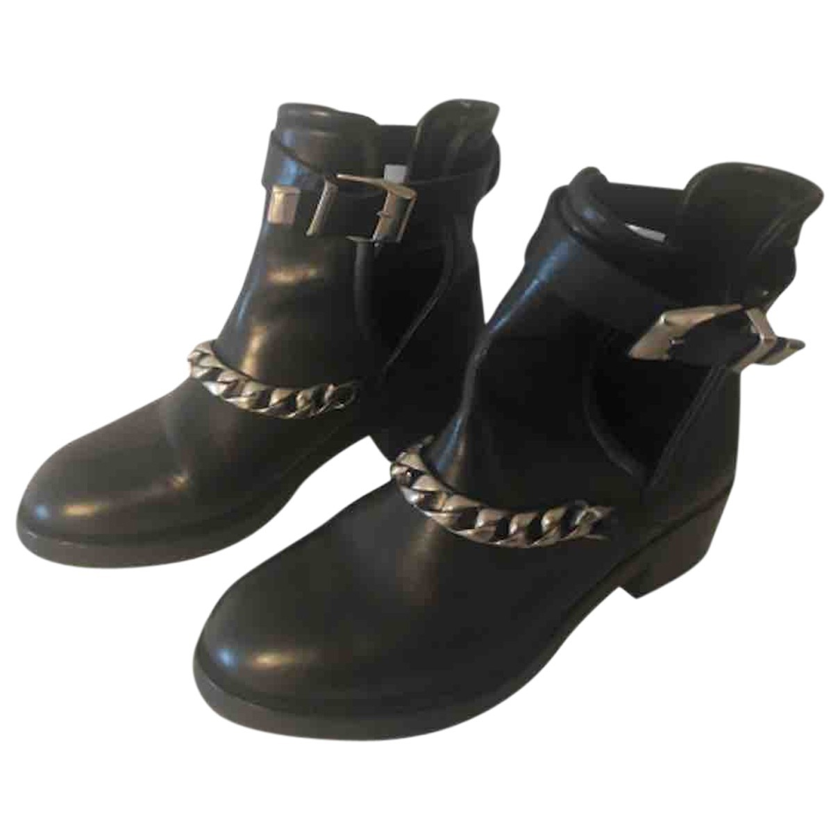 Sandro \N Black Leather Boots for Women 40 EU
