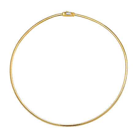14K Two Tone Gold 16 Inch Semisolid Omega Chain Necklace, One Size , No Color Family