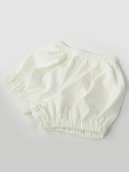 Milanoo Cute White Cotton Lolita Bloomers Shirring