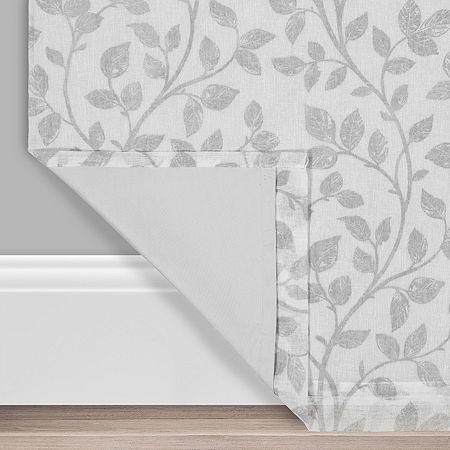Eclipse Nora Botanical Blackout Back-Tab Single Curtain Panel, One Size , White