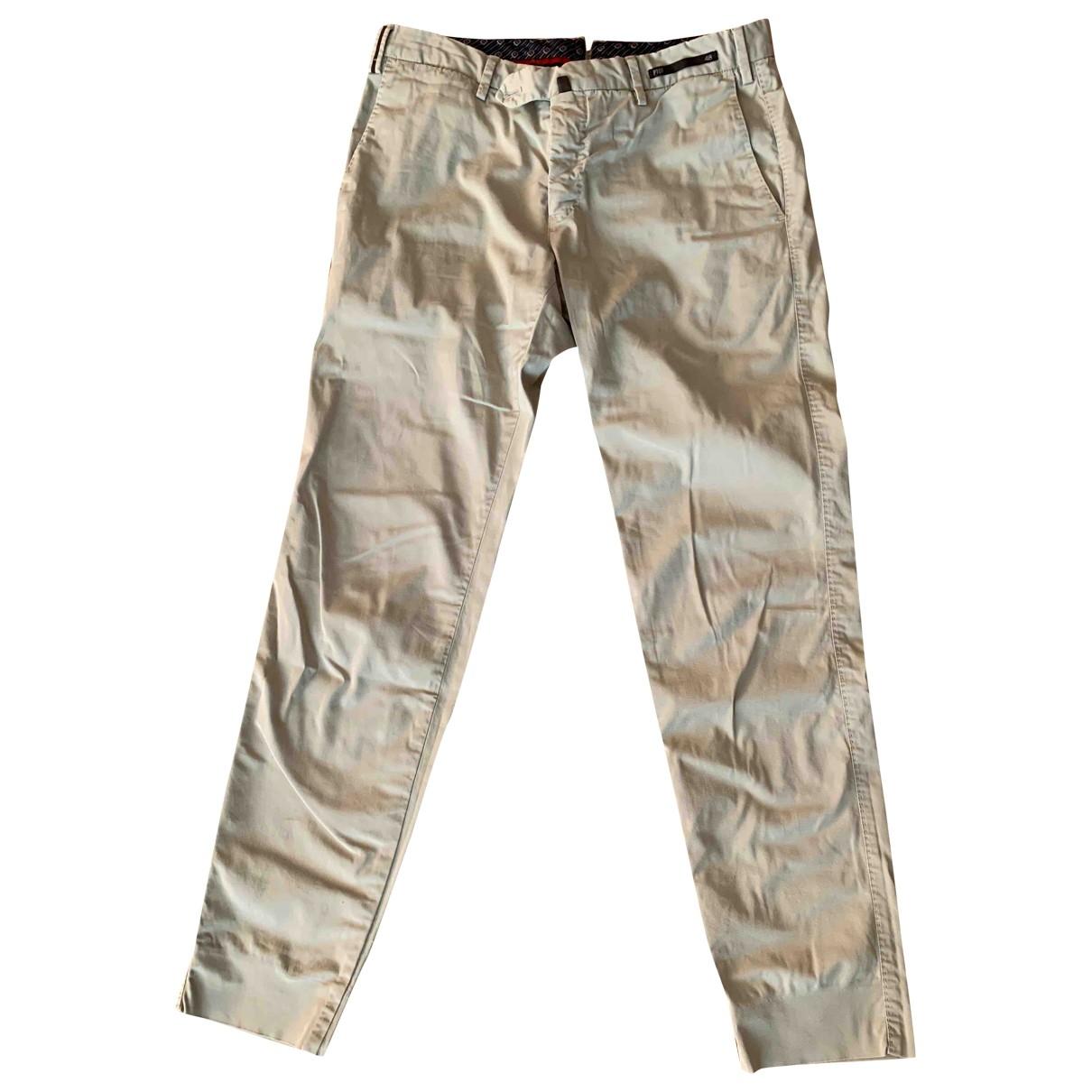 Pt01 \N Beige Cotton Trousers for Men L International