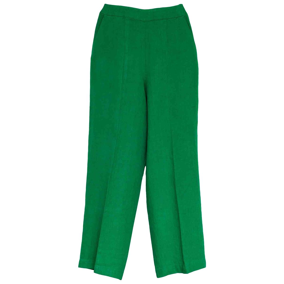 Whistles \N Green Linen Trousers for Women 8 UK