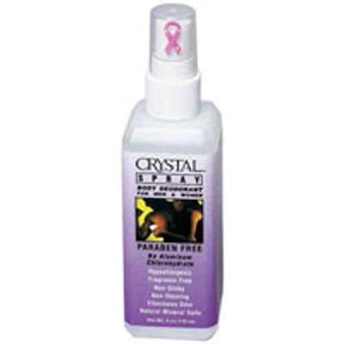 Crystal Body Deodorant Spray 4 Fl Oz by Crystal Body Deodorant