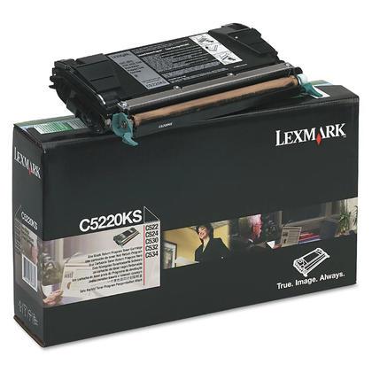Lexmark C5220KS cartouche de toner du programme retour originale noire