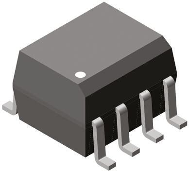 Vishay , VOD217T DC Input Phototransistor Output Dual Optocoupler, Surface Mount, 8-Pin SOIC (10)