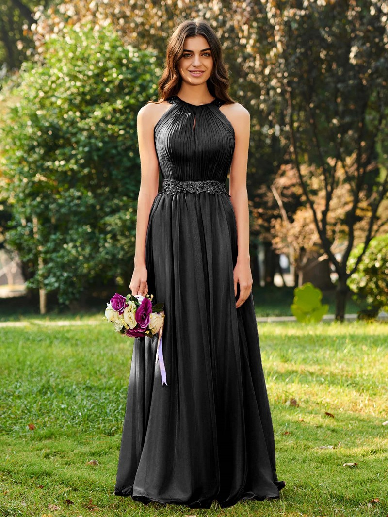 Ericdress Beading Appliques Pleats Bridesmaid Dress