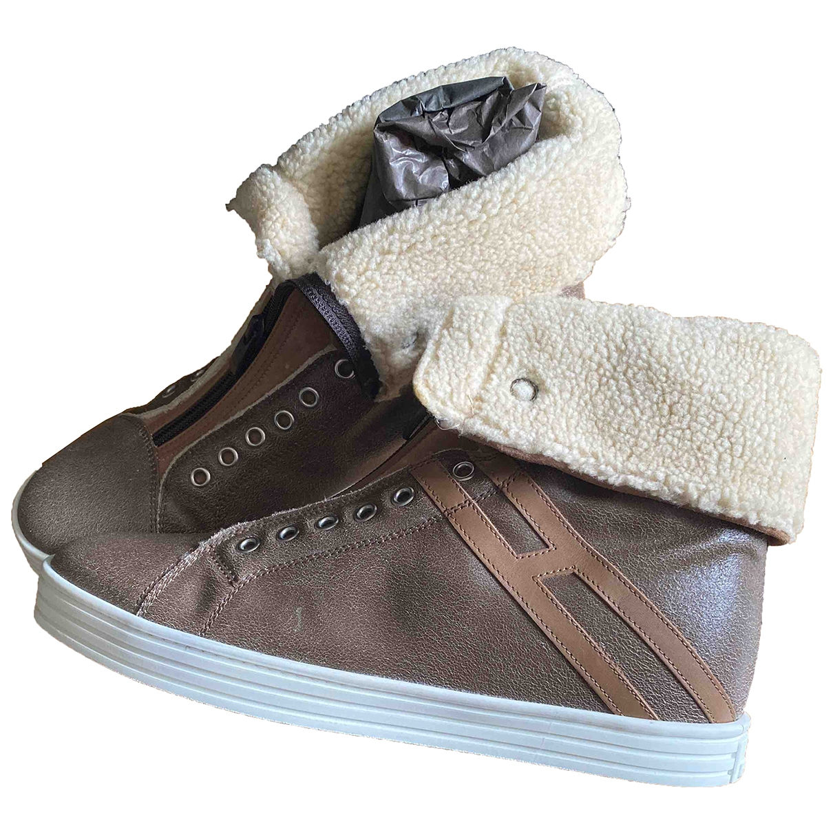 Hogan \N Brown Leather Trainers for Women 40.5 EU