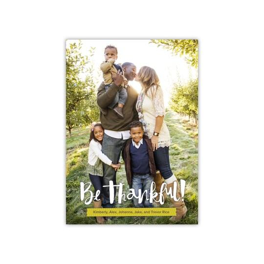 Gartner Studios® Personalized Flat Thankful Photo Card   Michaels®