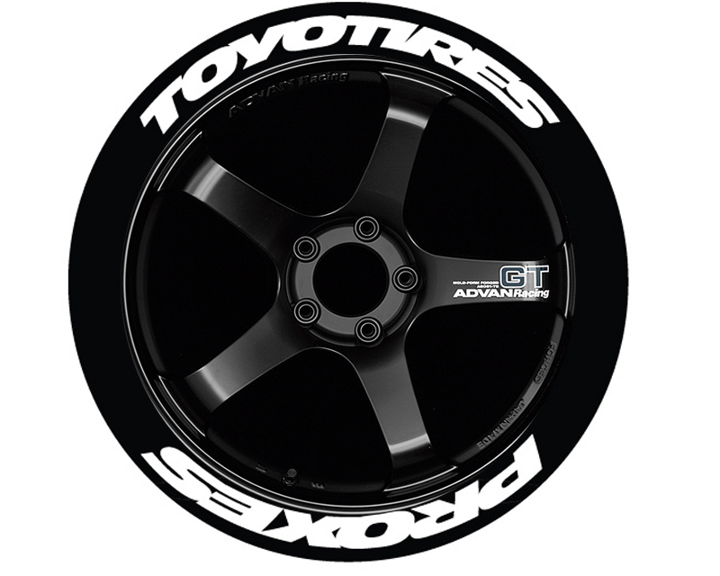 Tire Stickers TOYPROSTR-1921-1-4-O Orange 'Toyo Tires Proxes Stretch' Permanent Raised Rubber Lettering Set of 4- 19