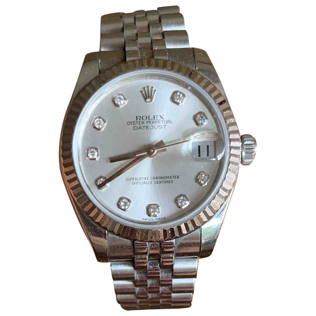 Rolex Datejust 36mm Silver gold and steel watch for Women \N