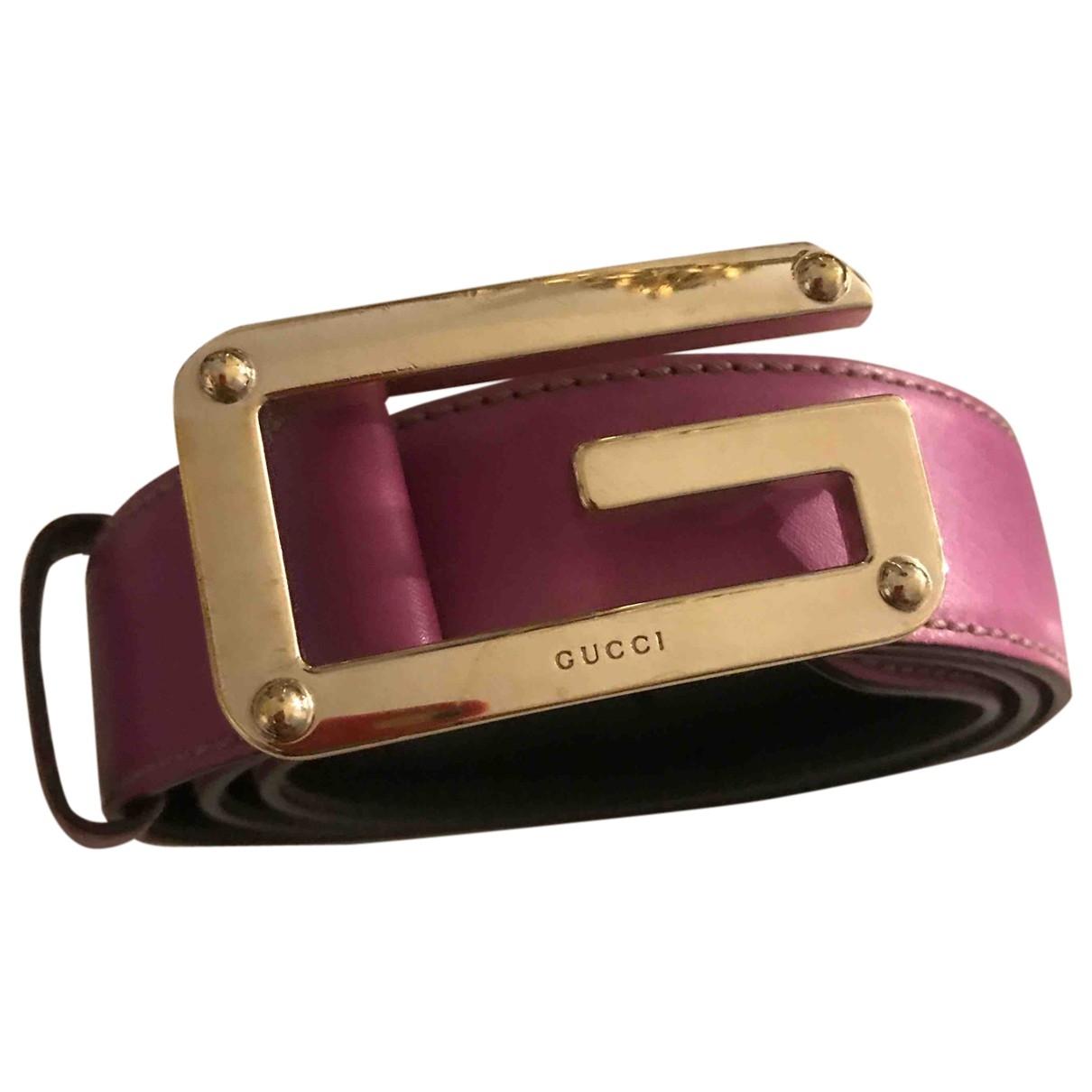 Gucci \N Pink Leather belt for Women M International