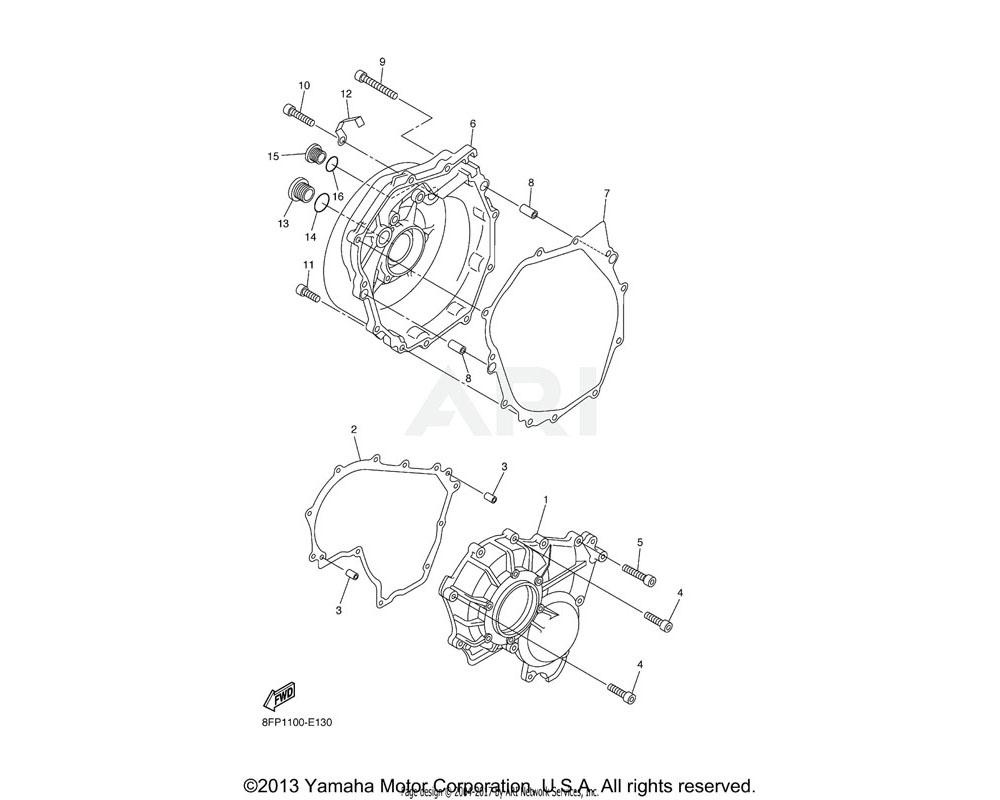 Yamaha OEM 8FP-15451-00-00 GASKET, CRANKCASE COVER 1