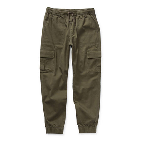 Arizona Little & Big Boys Cinched Jogger Pant, Large (14-16) , Green
