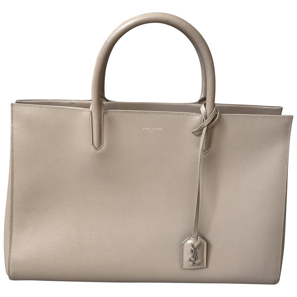 Saint Laurent Cabas Rive Gauche Beige Leather handbag for Women \N