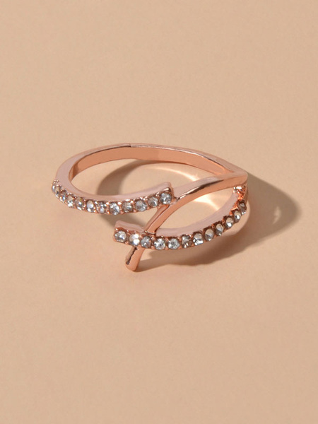 Milanoo Rings Finger Jewelry Rhinestone Women Jewelry