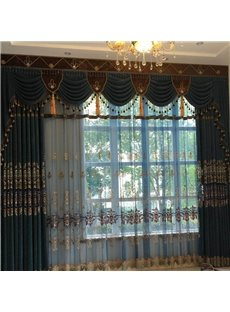 Classic Embroidery Royal Design Custom Sheer Curtain for Living Room Bedroom