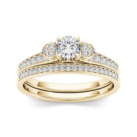 1/2 CT. T.W. Diamond 10K Yellow Gold Bridal Set Ring, 7 1/2 , No Color Family