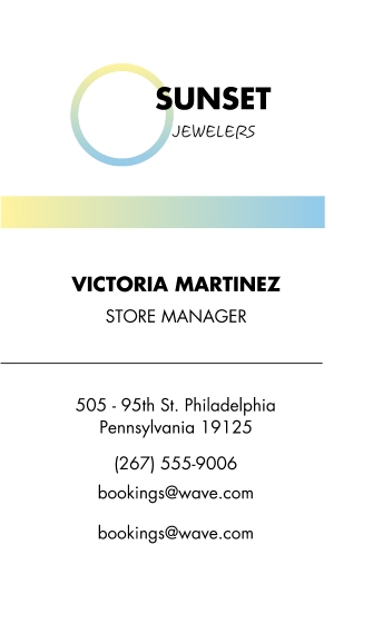 Retail & Food Business Cards, Set of 40, Card & Stationery -Jewels Sunset Gradient