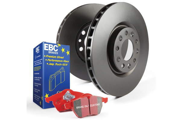 EBC Brakes S12KF1101 S12KF Kit Number Front Disc Brake Pad and Rotor Kit DP31175C+RK7054 Front